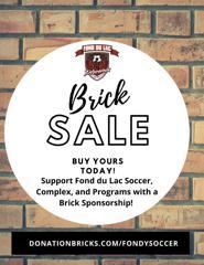 Fond du Lac Soccer Brick Sale