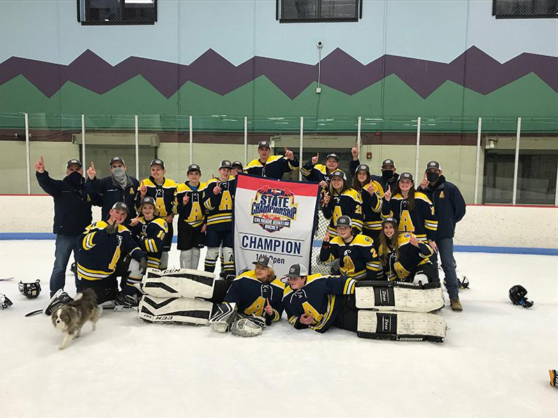 14U Open champion Arapahoe Warriors Youth Hockey Association