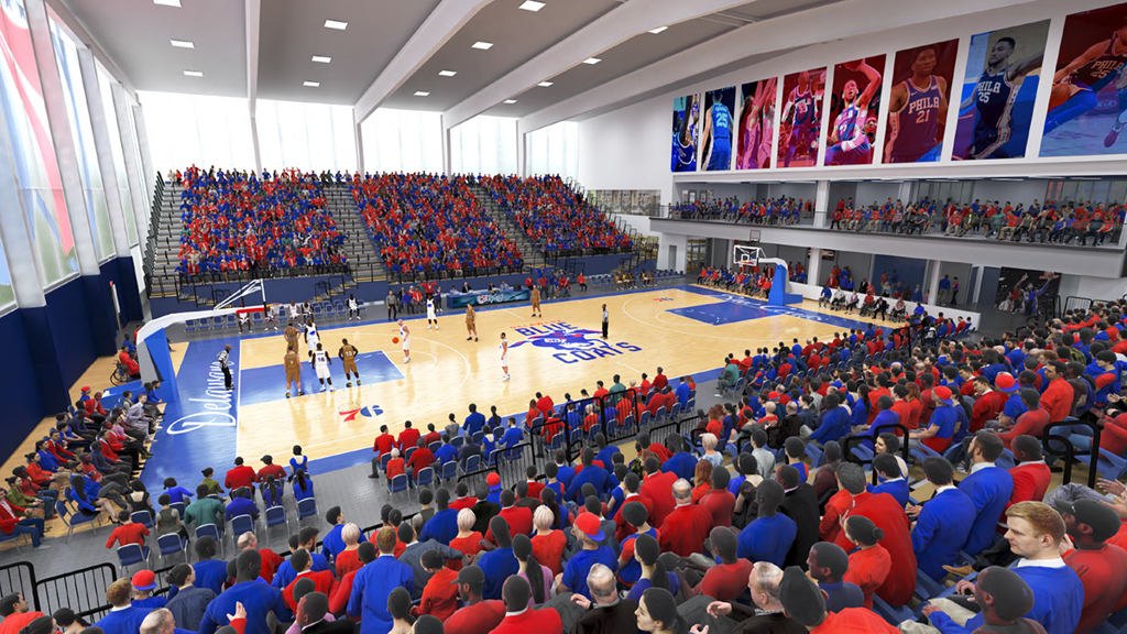 76ers fieldhouse interior rendering