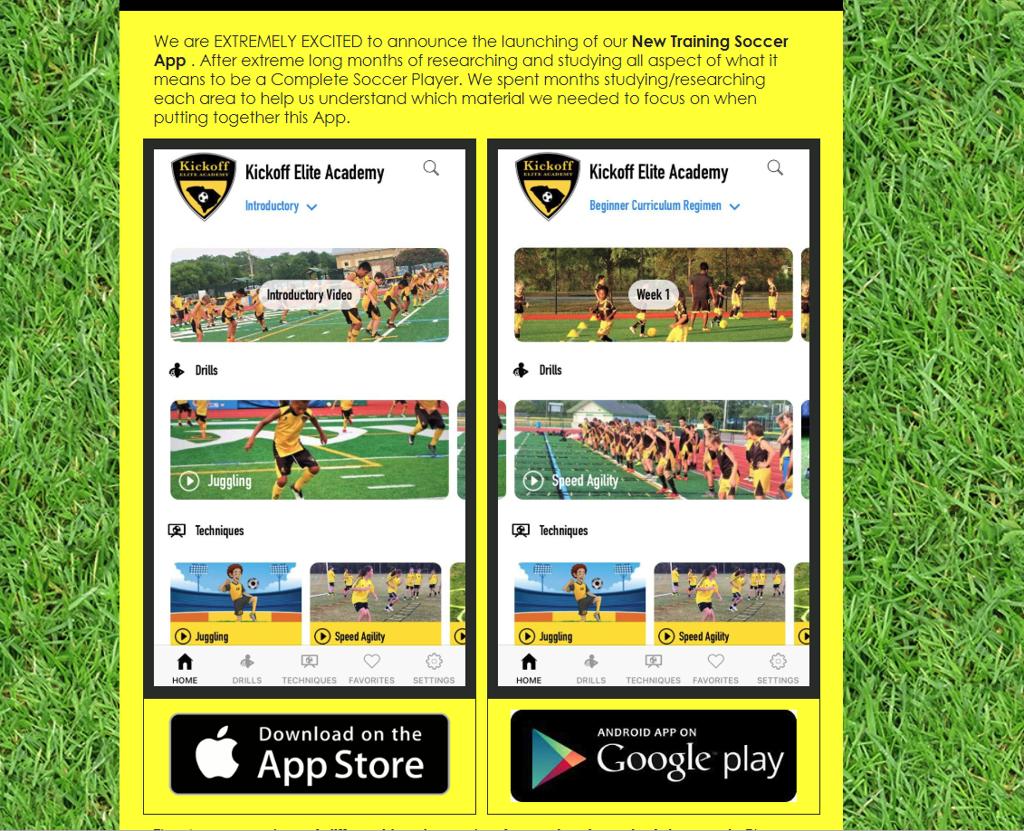Kickoff Elite Academy App