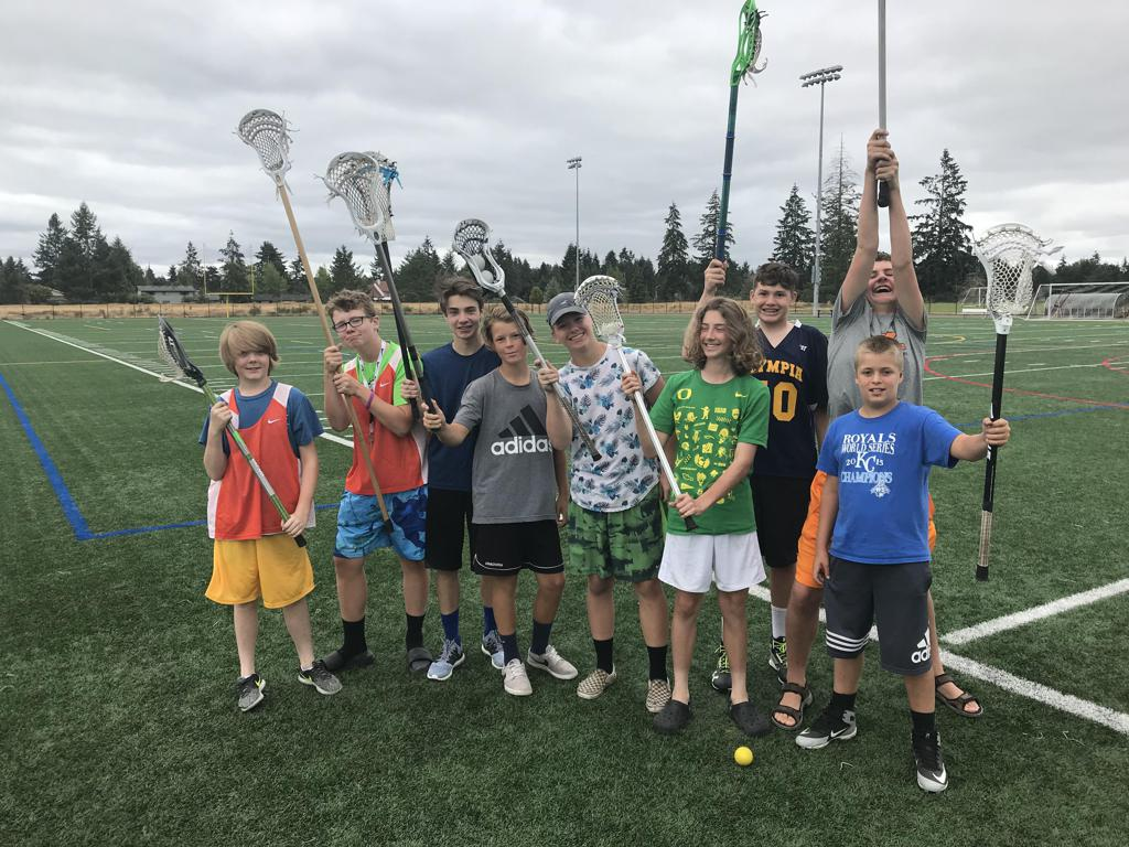 OLC players at Xcelerate Nike Lacrosse Camp