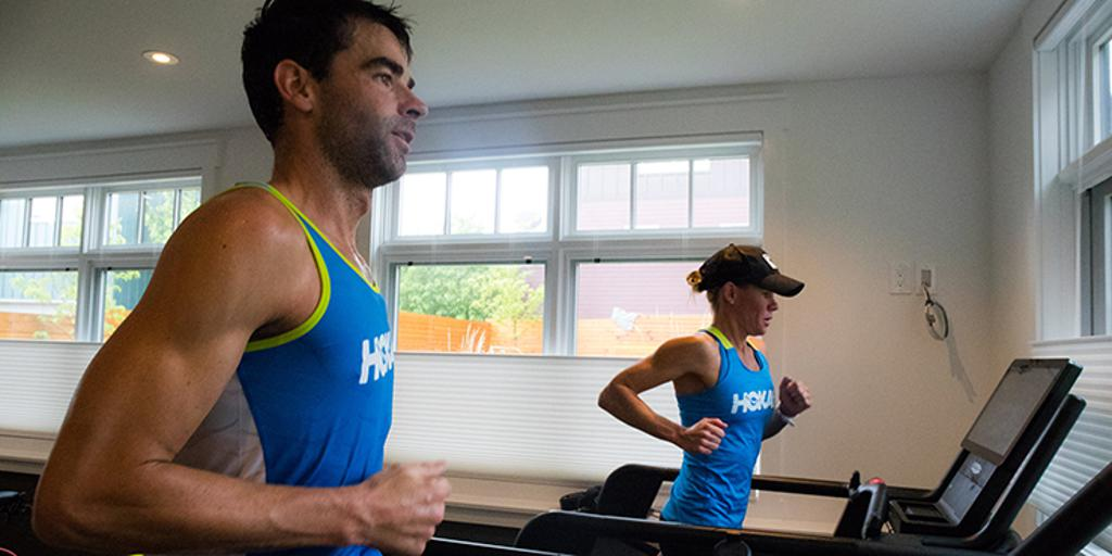 Three-time IRONMAN World Champion Mirinda Carfrae training with her husband, multiple IRONMAN Champion Tim O'Donnell