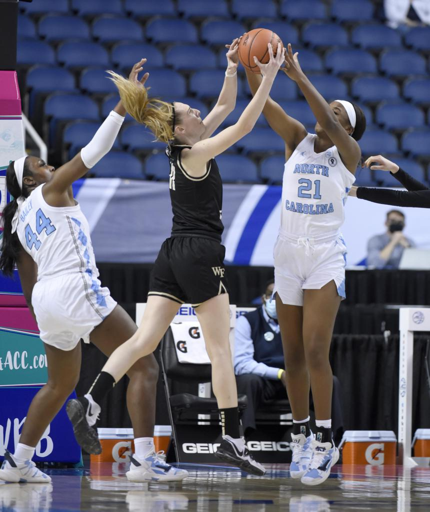 ACC Women's Basketball Conference Tournament Results and Highlights  Game 2: No. 8 North Carolina vs No. 9 Wake Forest, 71-82