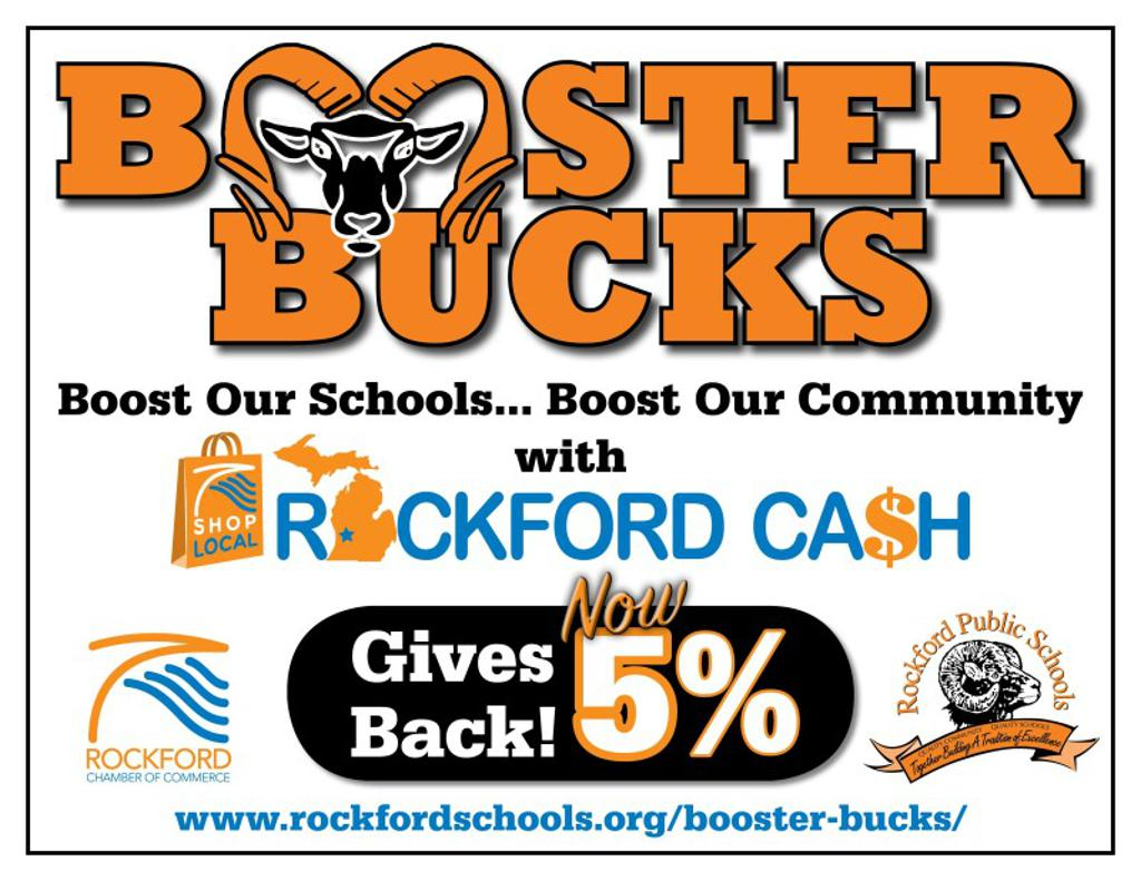 Purchase ROCKFORD CASH through the Rockford Public School website by clicking above – available 24/7! Select any sports team you wish to support and the Rockford Chamber of Commerce will give back 5% of the purchase to the team you selected!