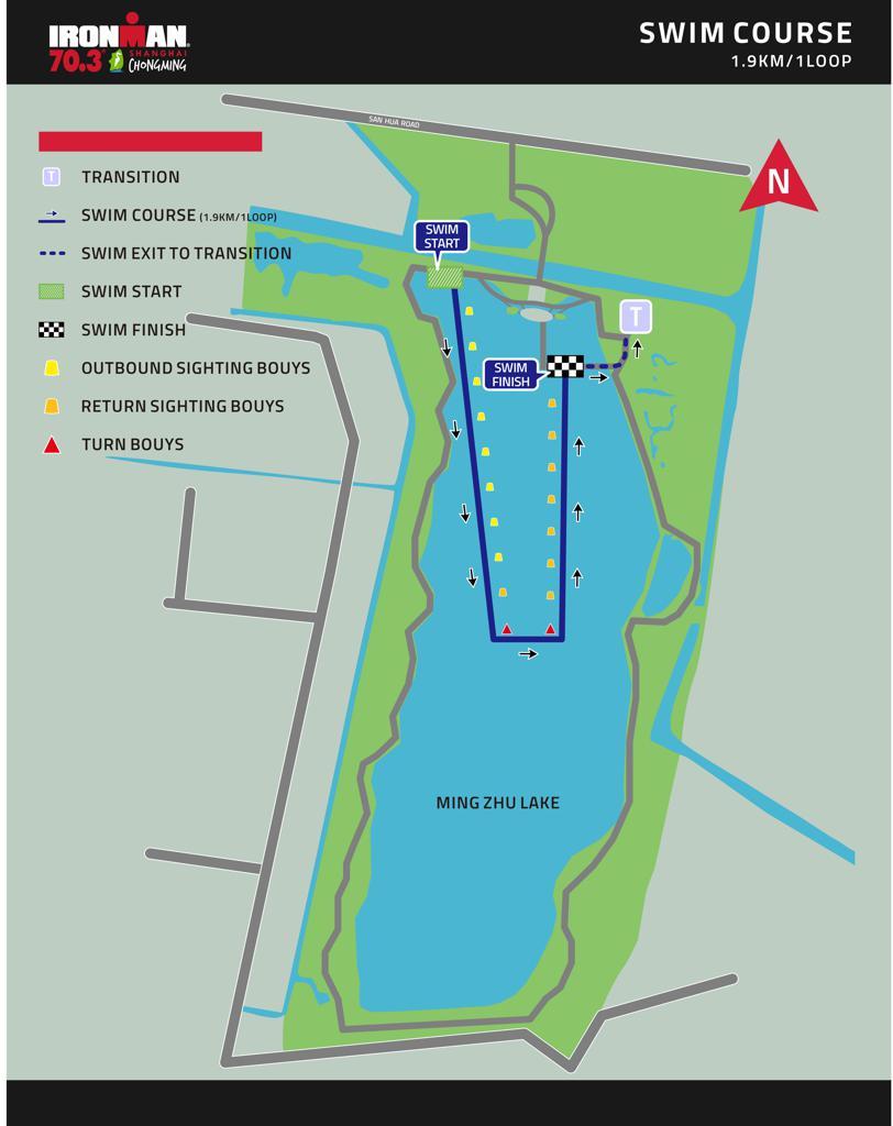 Swim course map English IM703 Shanghai