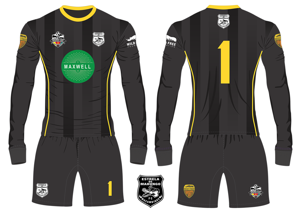 Estrela de Mahungo FC Crocodiles Goalkeeper Kit RCCL 2019