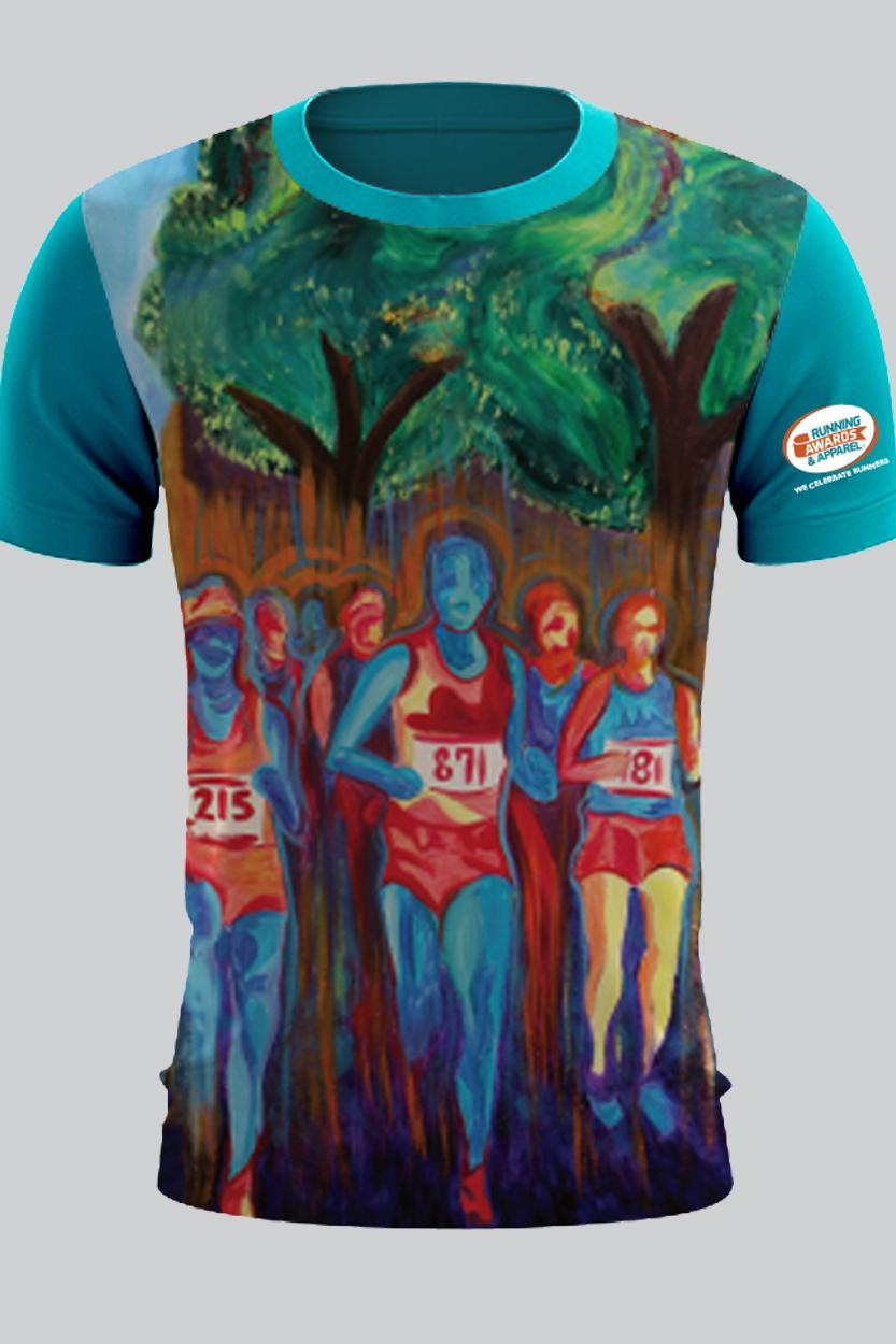Full Color sublimated Running Shirt by Racetrackers