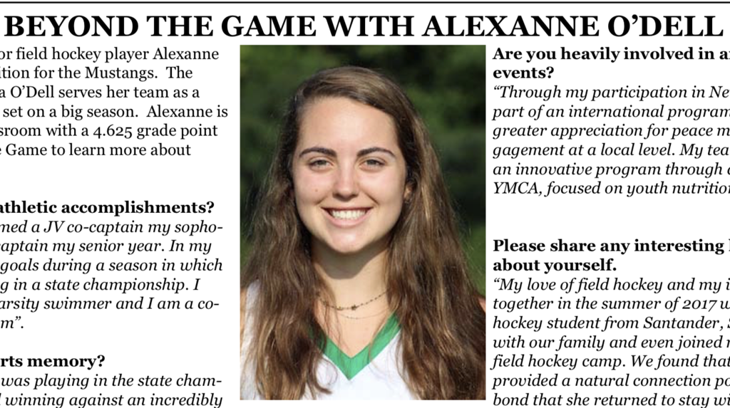SEE ARTICLE BELOW FROM SOUTH CHARLOTTE SPORTS REPORT