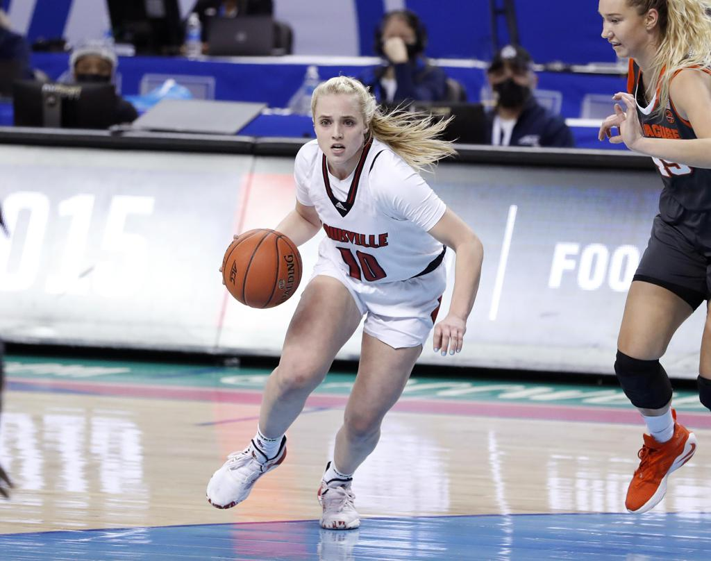2021 ACC Women's Basketball Tournament Louisville Hailey Van Lith vs Syracuse