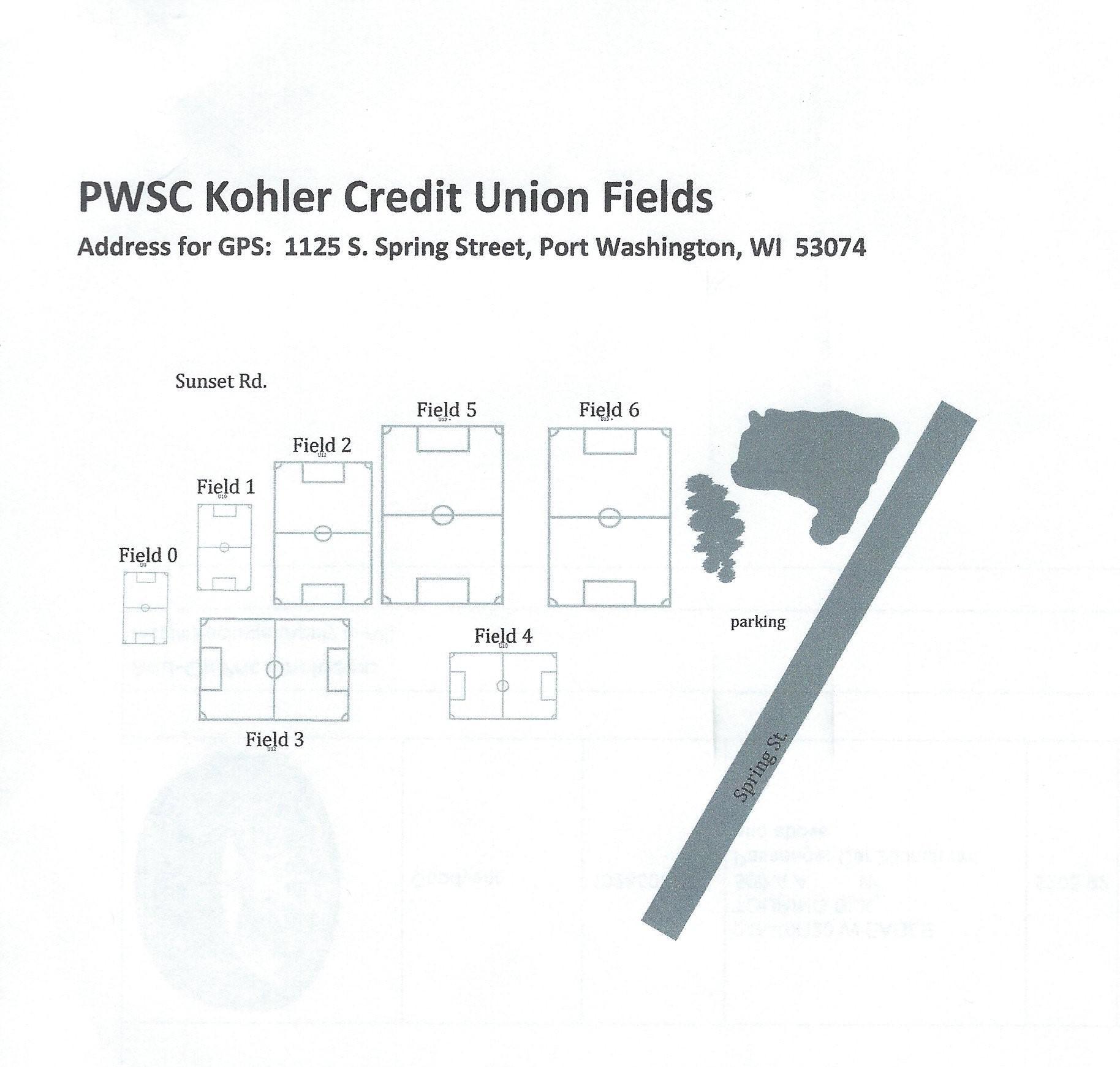 PWSC Kohler Credit Union Fields