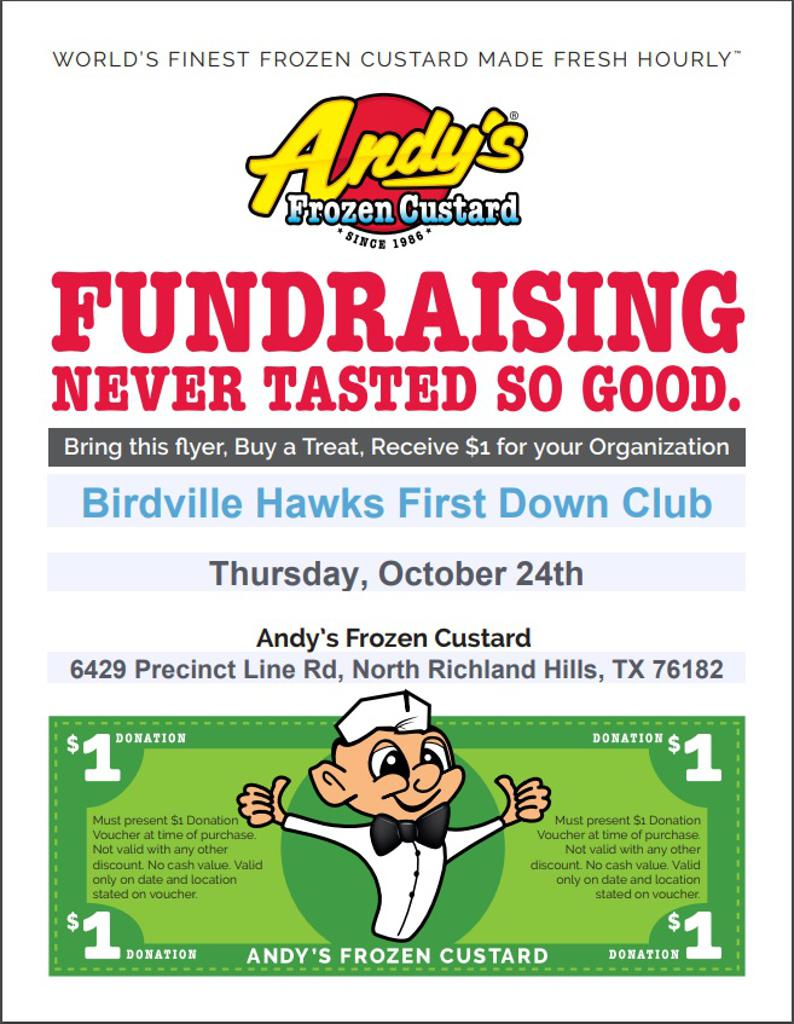 Fundraiser Andy's October 24th
