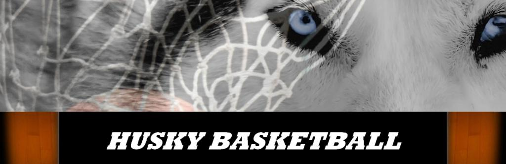 heritage husky basketball banner graphic