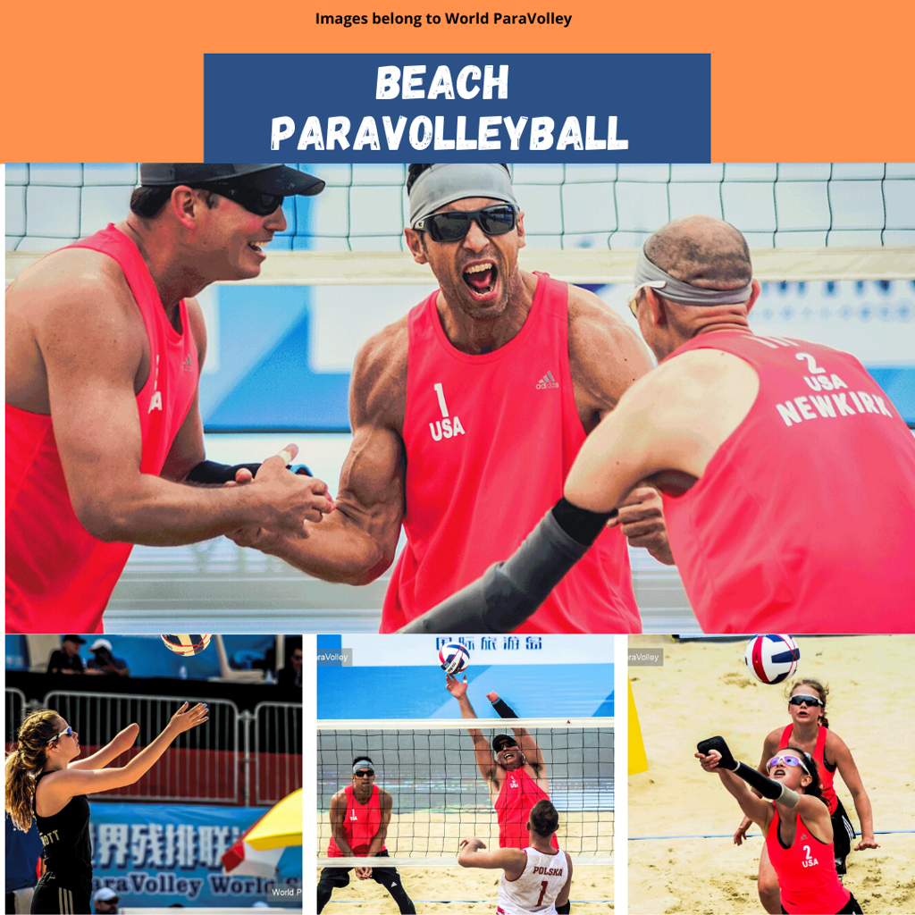 Beach paravolleyball