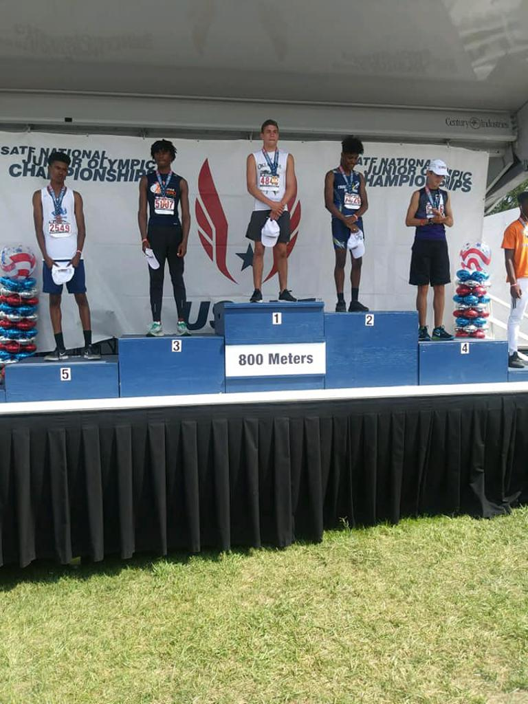 Congrats to Our 15-16 Silver medlaist 1500m 2018 Junior Olympic Champion Christian Rodriguez