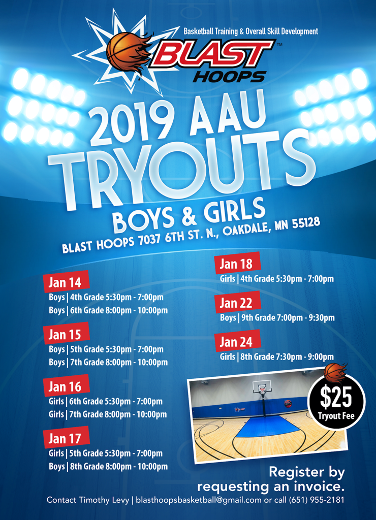Blast Hoops AAU Tryouts