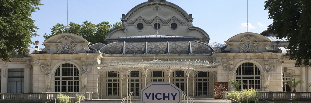 Art Nouveau-style and white colored Opera House of Vichy at IRONMAN Vichy