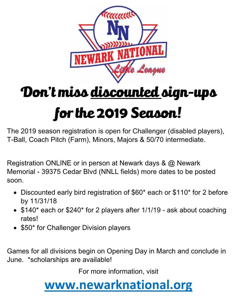 Don't Miss Discounted Sign-Ups for 2019 - Registration is open now!