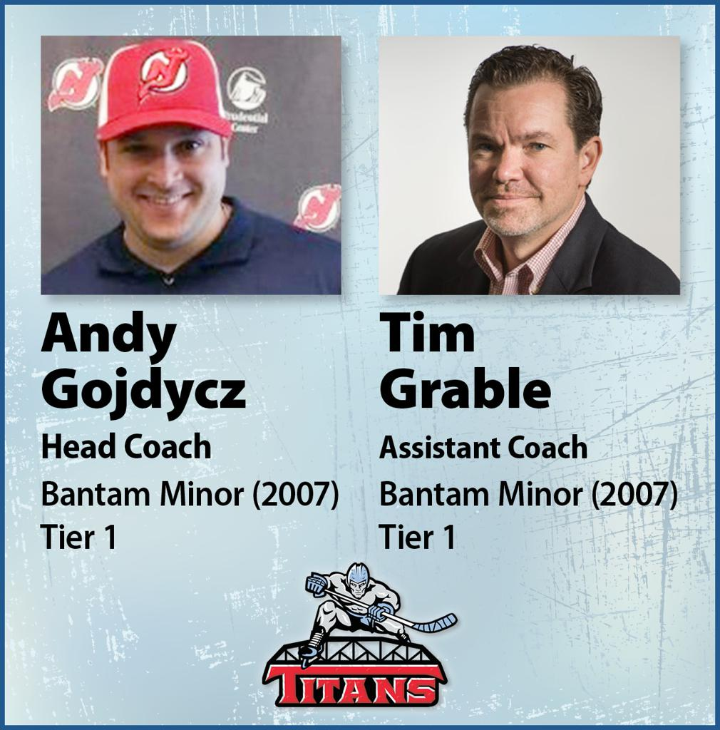 Gojdycz and Grable to coach Bantam Minor team for 2020-21 season