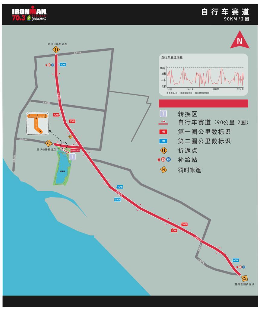 Bike course map Chinese IM703 Shanghai