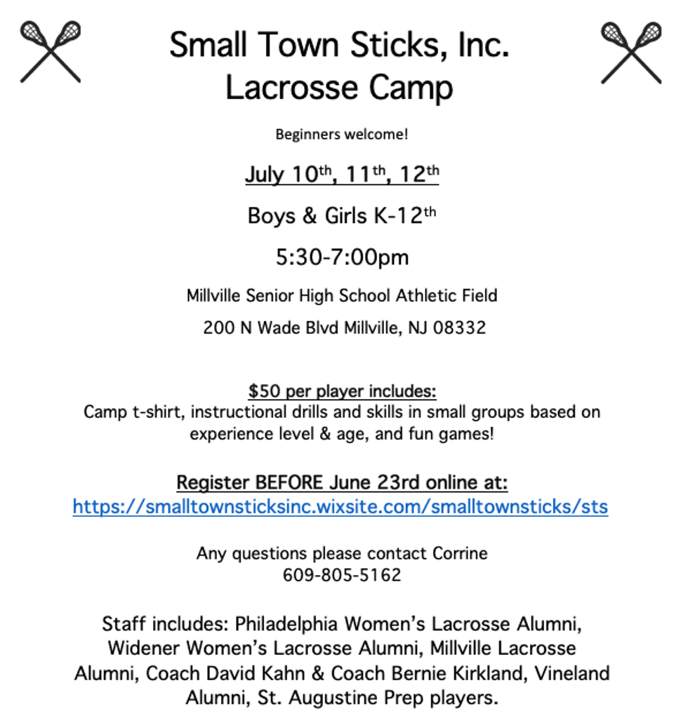 Small Town Sticks Lacrosse Camp