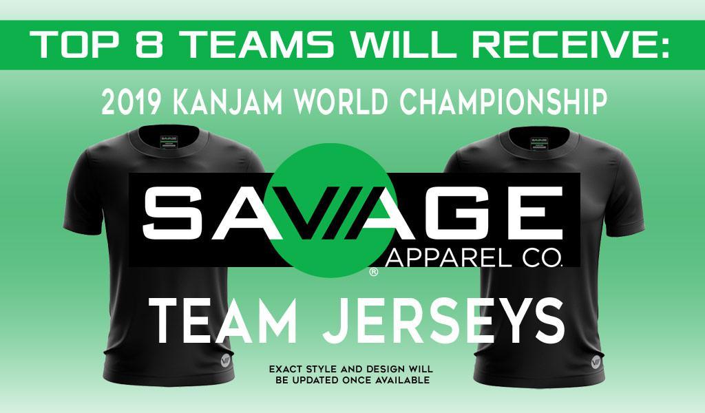 2019 KanJam World Championship SAVAGE team jerseys