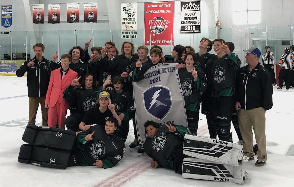 The Boulder Hockey Club's 16U/JV team secured the Toreys Division title at the 2021 Kingdom Kup with a 9-3 victory over the Utah Junior Grizzlies 16U team on Oct. 3. Submitted photo