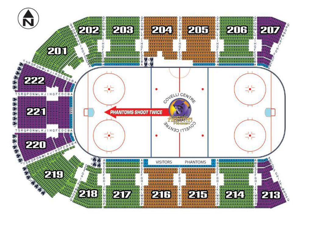 Youngstown Phantom Seating Chart at the Covelli Center for Season Tickets
