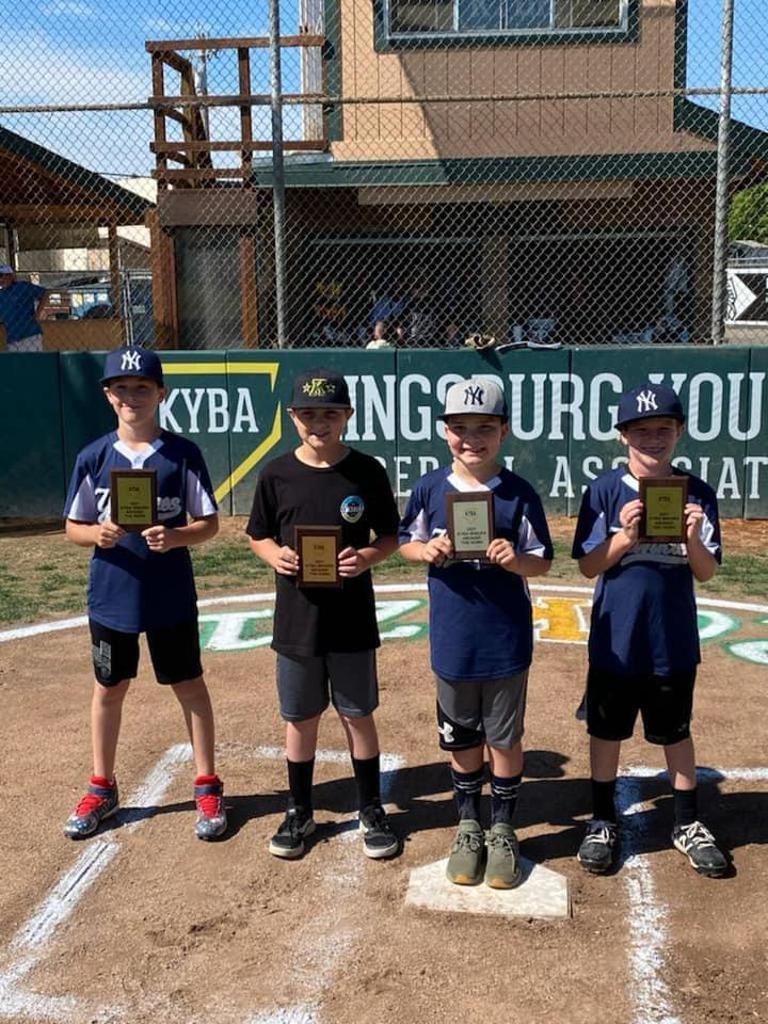 Around the Horn Winners Yankees (Minors Division)