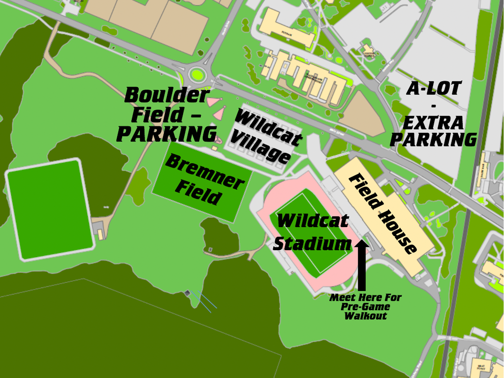 UNH Men's Soccer Youth Night - Parking & Field Map