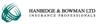 Hanbidge and bowman logo element view