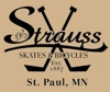 Sponsored by Strauss Skates and Bicycles