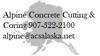 Alpine concret cutting   coring info element view