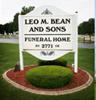 Sponsored by Leo M. Bean and Sons Funeral Home