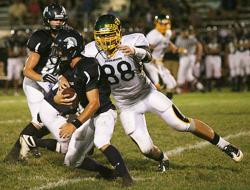Gophers commit Owen Salzwedel had seven sacks in a game earlier this year with a Gopher coach in attendance.