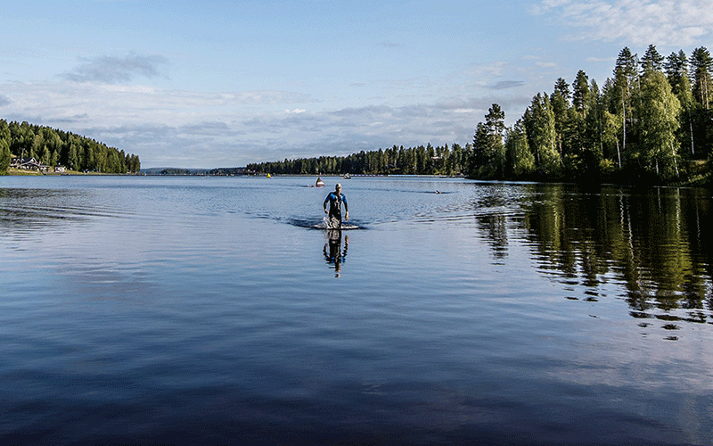 IRONMAN Finland lake