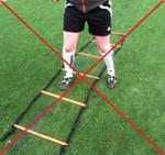 Dr. Deutsch advises coaches not to use agility ladders