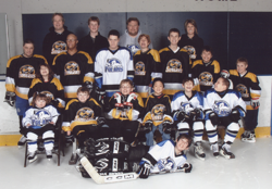 Team picture of the first two Minnesota Special Hockey teams, the Polars and the Stingers.