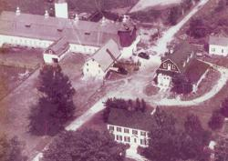 Aerial view of what is now Radisson Rd. and 105th Ave