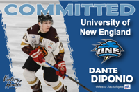 DANTE DIPONIO COMMITS TO UNIVERSITY OF NEW ENGLAND