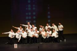 Adult bigs/littles dance performance