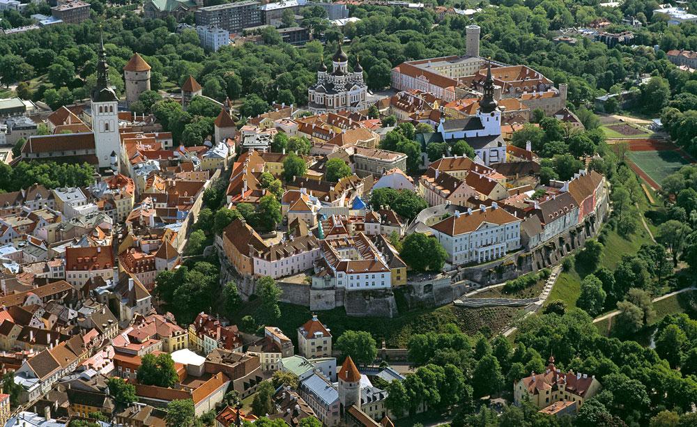 Tallinns Altstadt aus der Vogelperspektive