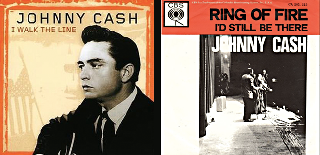 Ring of Fire and I Walk the Line Singles
