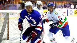 Minnesota Wild prospect Jordan Greenway (left). Credit: Courtesy Wild.com.