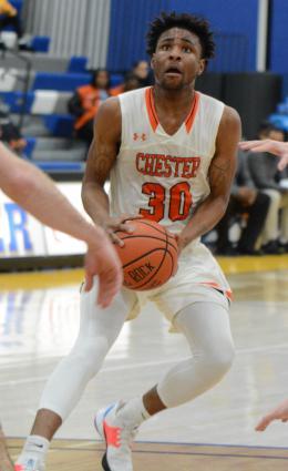 Karell Watkins prepares to shoot the basketball