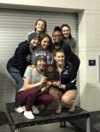 Hough Girls swim/ dive team win the 4A West regional meet