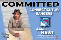 Aidan Haws officially commits to Connecticut Jr. Rangers